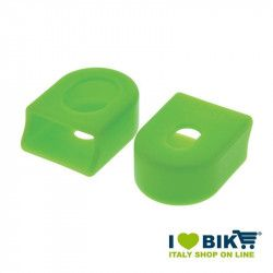 Pairs cranks protections for garnishing bike race in green rubber shop online