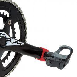 Paia protezioni pedivelle per guarnitura bici corsa in gomma gialle shop online