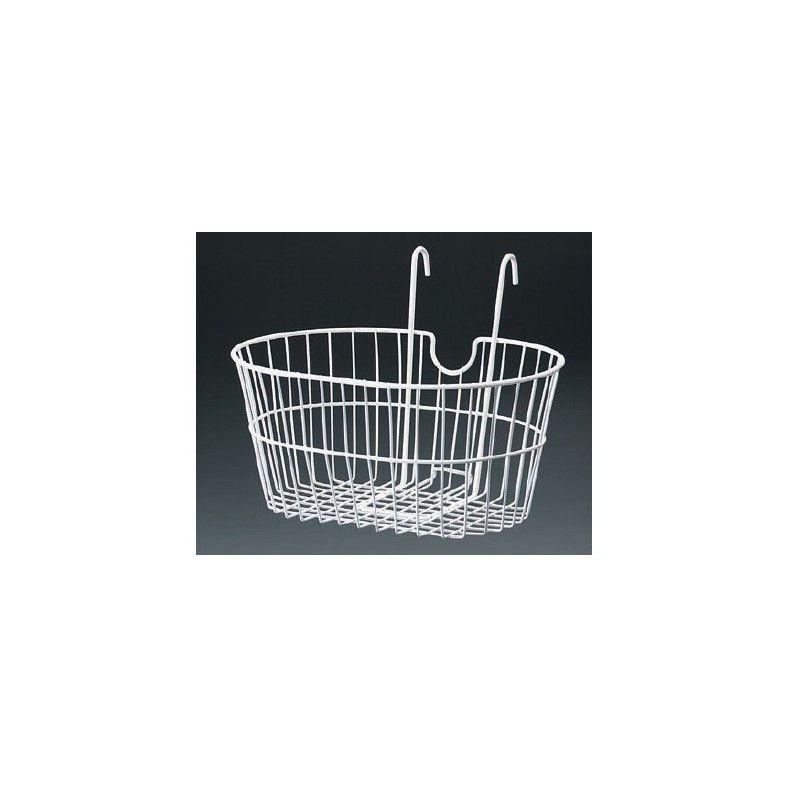 front basket with iron hooks white BONIN - 1