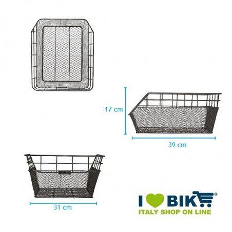 ce60b cestino bici posteriore nero