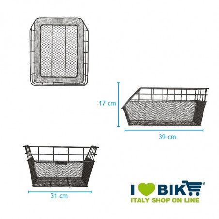 Rear Basket in retina greenTrendy