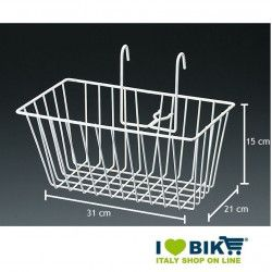 Front basket iron Graziella white BRN - 2