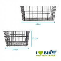basket maxi front / rear iron Torino BRN - 2
