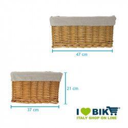 Large wicker black basket with liner BRN - 2