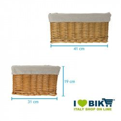 Small brown wicker basket with liner BRN - 2