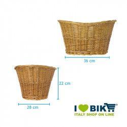 Wicker Basket in Natural Retro BRN - 2