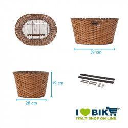 Basket in Faux Leather round black BRN - 2