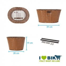 Basket in Faux Leather round honey BRN - 2