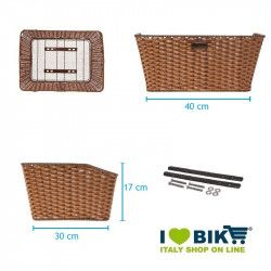 Basket in Faux Leather rectangular brown BRN - 2