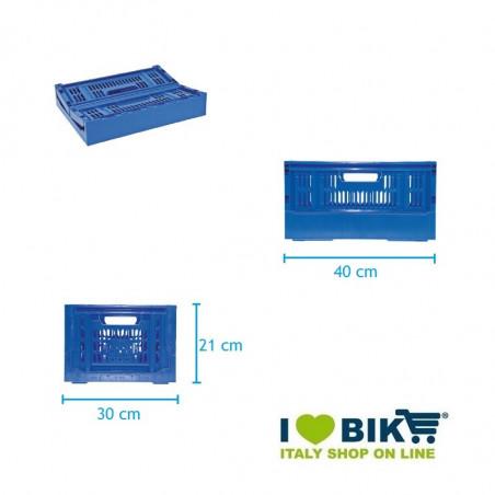 CE06XXCCCretro Cesto Cassetta pieghevole in plastica accessori e ricambi bici negozio bici on line