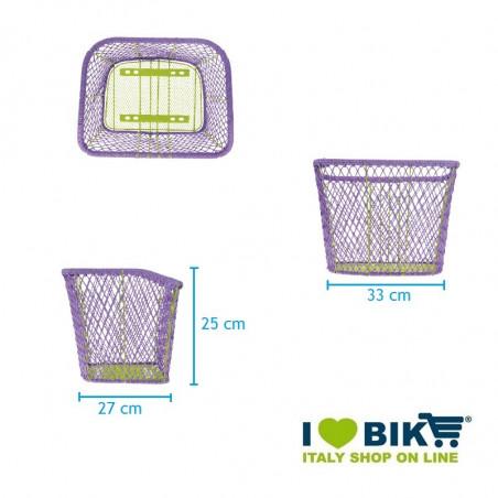 CE77L Cesto viola per bici a rete colorato accessori e ricambi bici negozio bici on line