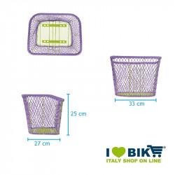 CE77M Cesto marrone miele per bici a rete colorato accessori e ricambi bici negozio bici on line