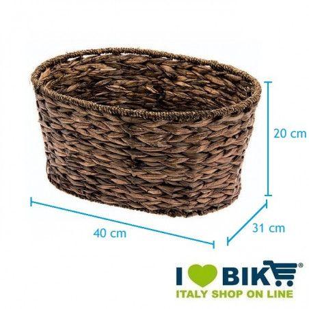 Natural Hyacinth oval bike basket