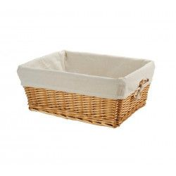 Small wicker basket with liner