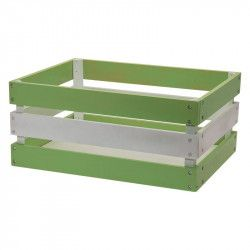 Wood basket Versilia green white Reinforced