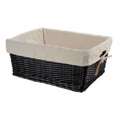 Large wicker black basket with liner