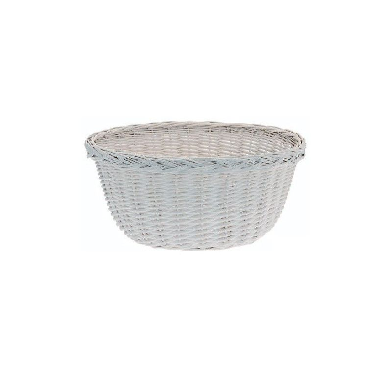 Wicker Basket in Holland White RMS - 1