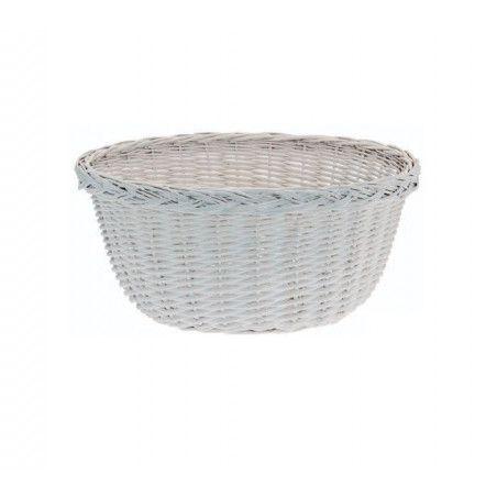 Wicker Basket in Holland White