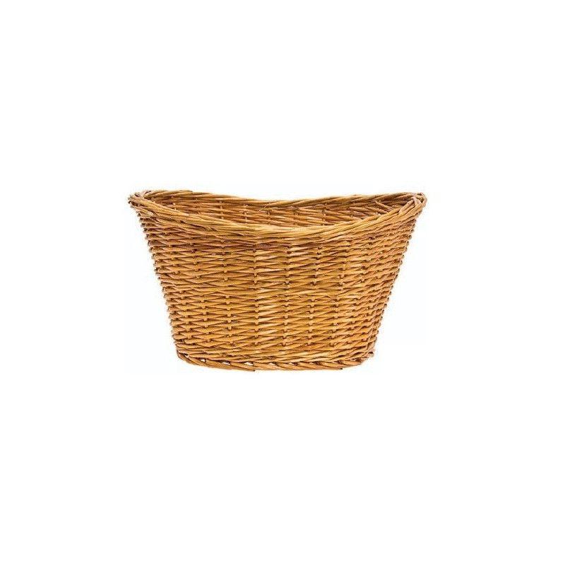 Wicker Basket in Natural Retro BRN - 1