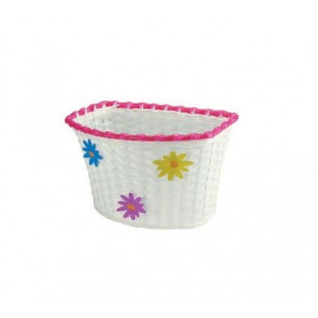 basket plastic baby Flower with white ties