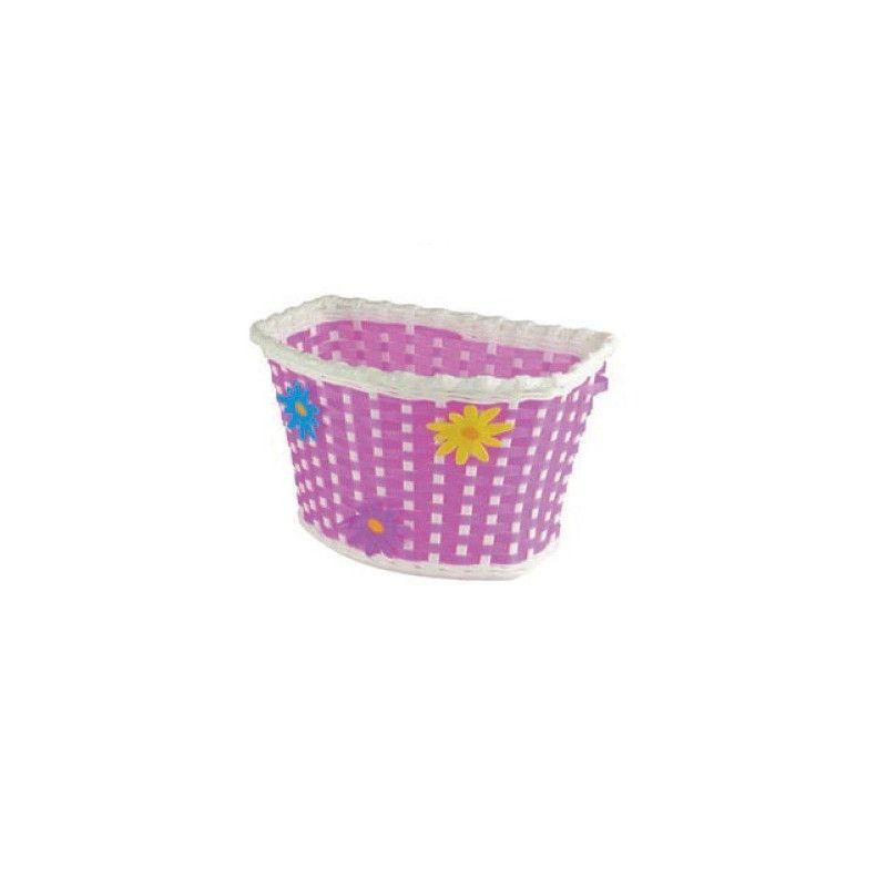 """Cesto in plastica bimbo """"Flower"""" rosa con fascette  - 1"""