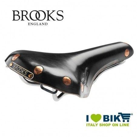 Sella bici vintage Brooks Swift Chrome nera online shop