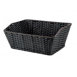 basket in black rectangular Faux Leather