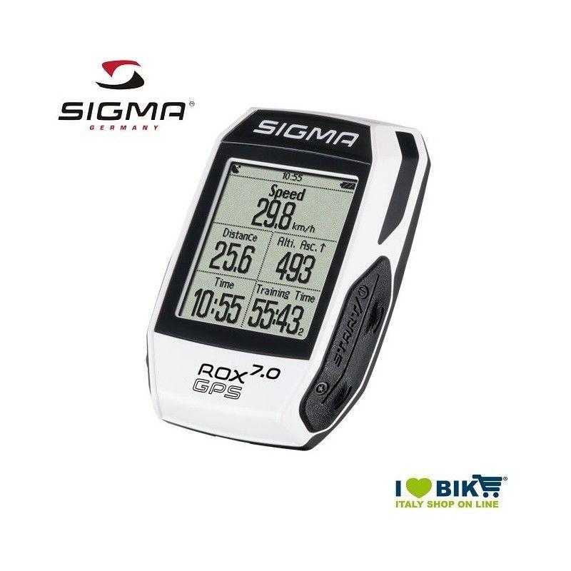 Ciclocomputer per bicicletta corsa Sigma Rox 7.0 GPS bianco online store