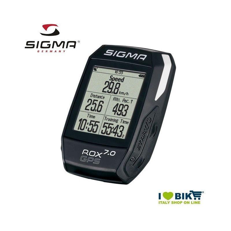 Ciclocomputer per bicicletta corsa Sigma Rox 7.0 GPS nero online store