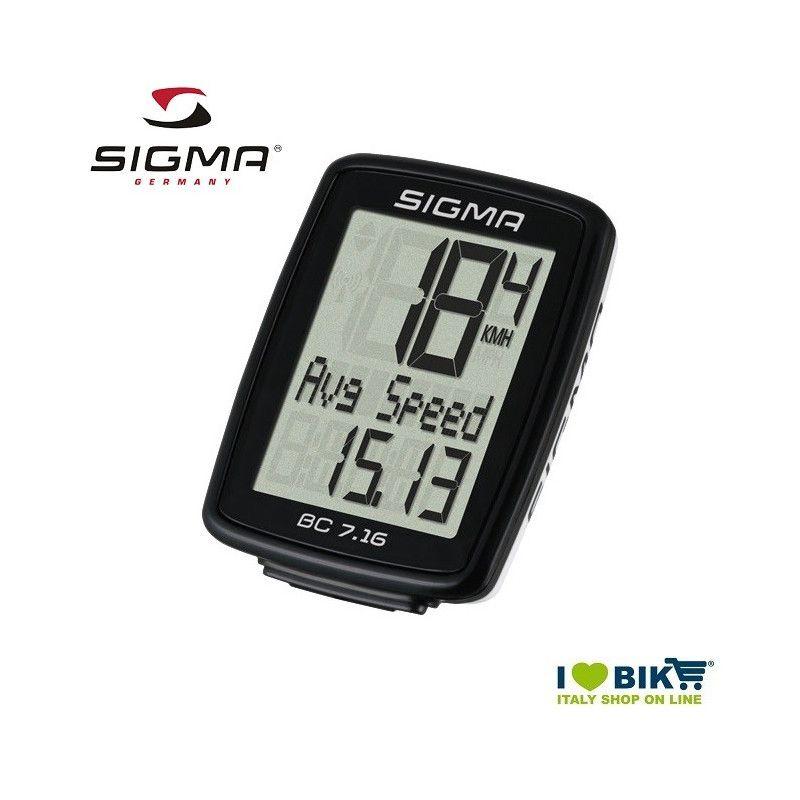 Ciclocomputer per bicicletta corsa Sigma BC 7.16 con filo online shop