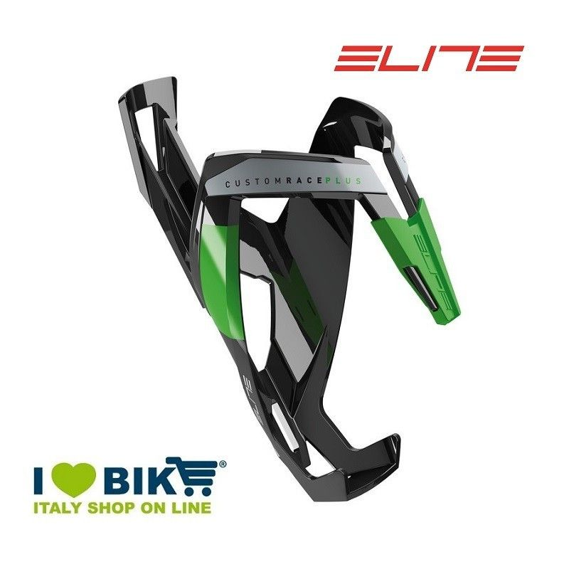 Portaborraccia per bici corsa Elite Custom Race Plus nero lucido/verde online shop