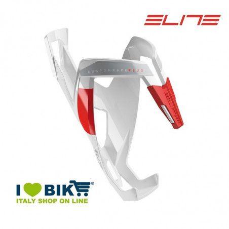 Bottle cage Elite Custom Race Plus Glossy white / red online store