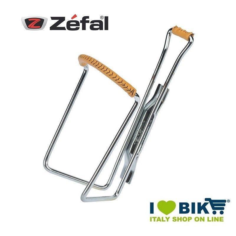 Portaborraccia Vintage Zefal cromato con cuoio bike store epoca
