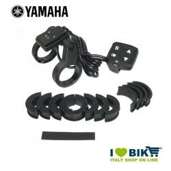 Support Yamaha display with handcuff bike shop