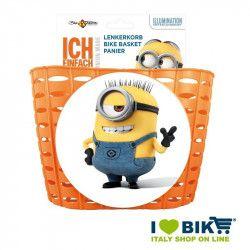 Basket bicycle baby Minion orange online sale