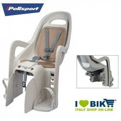 Seggiolino per bicicletta Polisport Groovy Maxi posteriore al portapacco crema