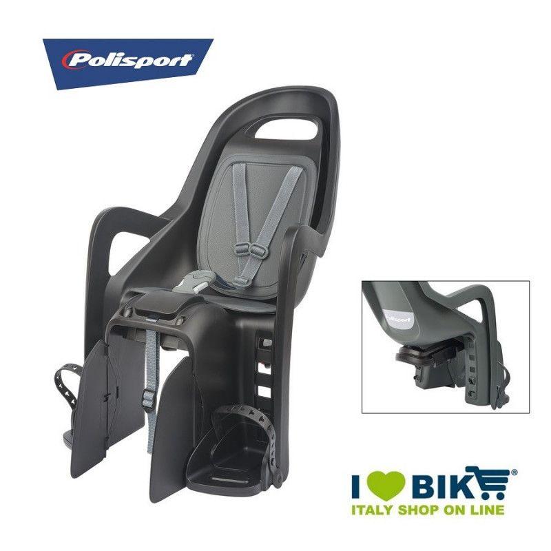 Seggiolino per bicicletta Polisport Groovy Maxi posteriore al portapacco nero/grigio