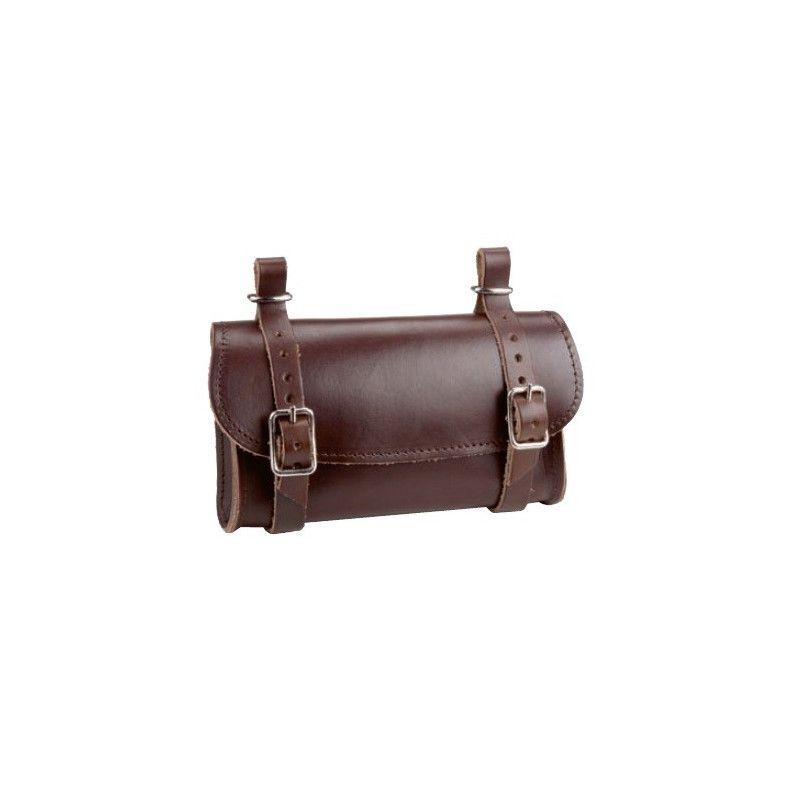 Leather Handbag saddle brown BRN - 1