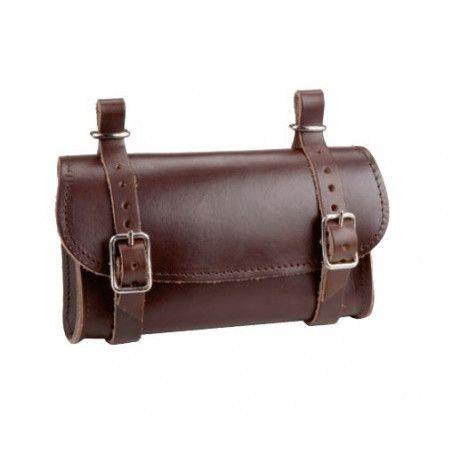 Leather Handbag saddle brown