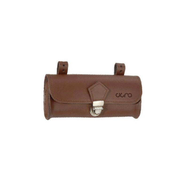 Oval Purse saddle brown leather BRN - 1