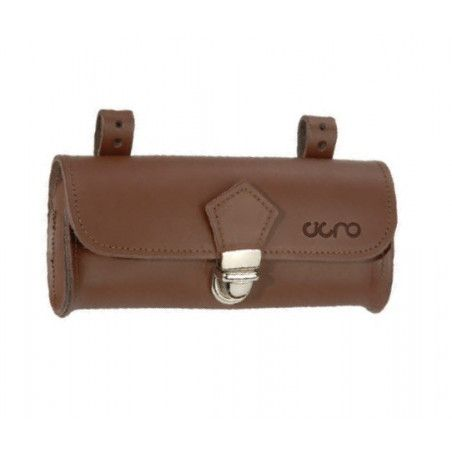 Oval Purse saddle brown leather