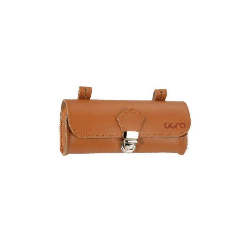 Oval Leather Handbag saddle honey BRN - 1