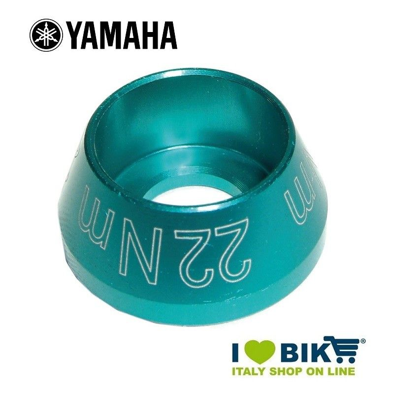 Screw plug for Yamaha E-Bike engine Cyan anodized
