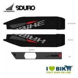 Adesivo per Batteria E-Bike Yamaha rosso e nero per modello 2015