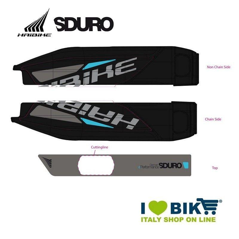 Adesivo per Batteria E-Bike Yamaha Ciano per modello 2015