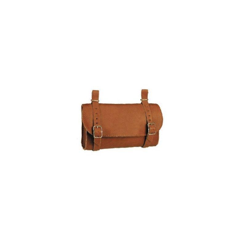 Handbag saddle Leatherlike honey BONIN - 1
