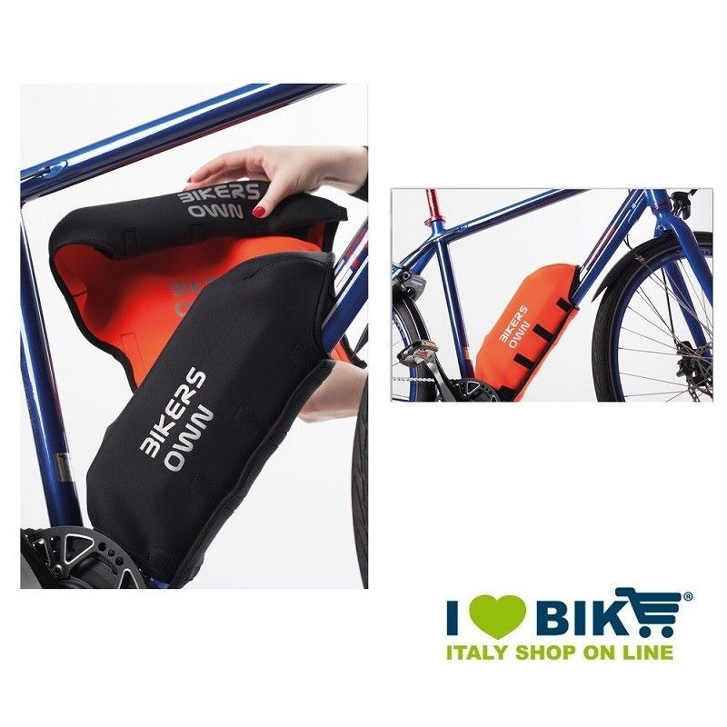 Protezione batteria BikersOwn per Yamaha rosso bike shop
