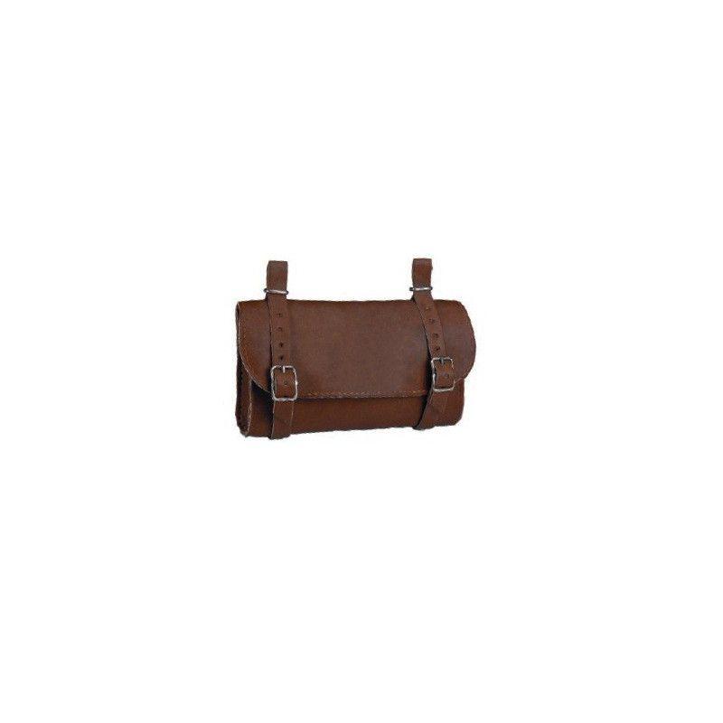 Handbag Leatherlike saddle brown BONIN - 1