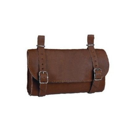 Handbag Leatherlike saddle brown