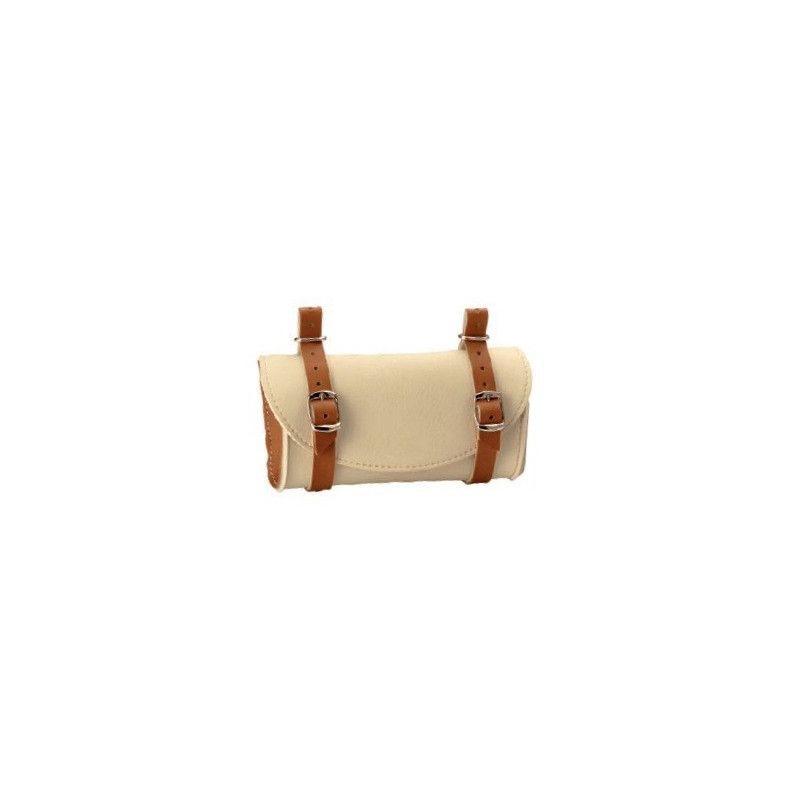 Handbag saddle Leatherlike cream / honey BONIN - 1